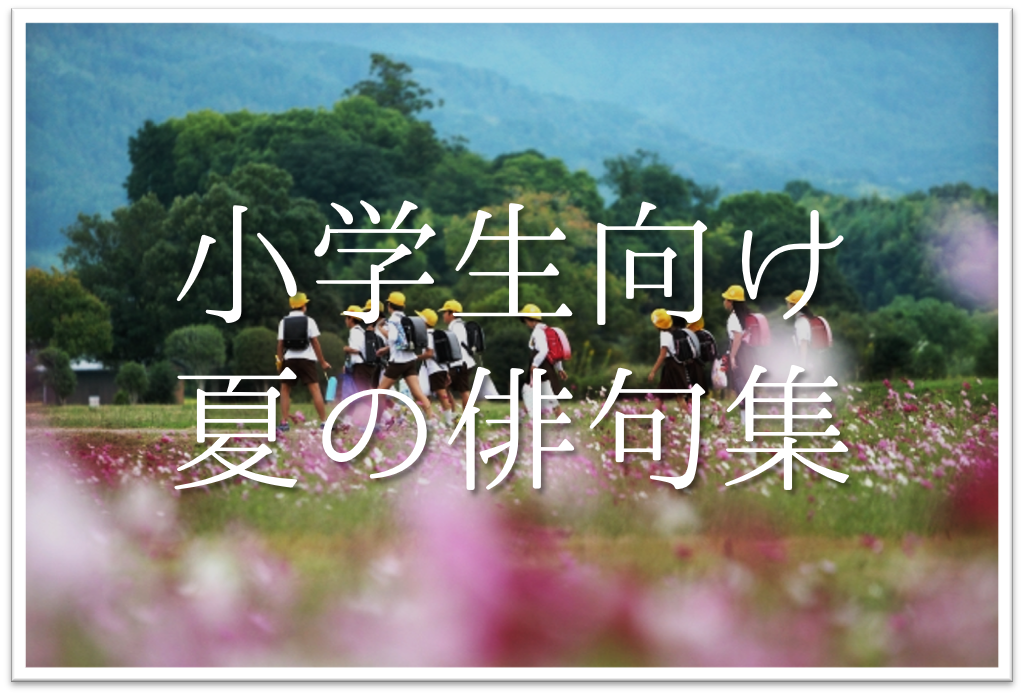 【夏の俳句 おすすめ20選】小学生向け!!夏の季語を使った俳句例(一覧)を紹介!