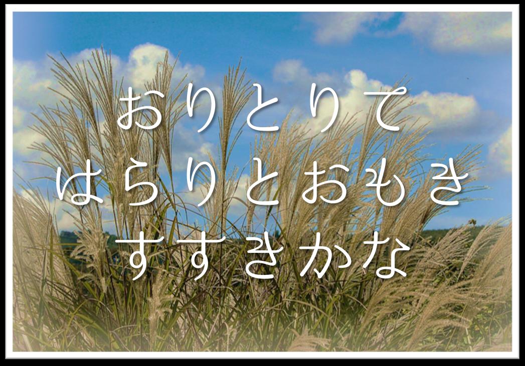 【おりとりてはらりとおもきすすきかな】俳句の季語や意味・表現技法・鑑賞文・作者など徹底解説!!