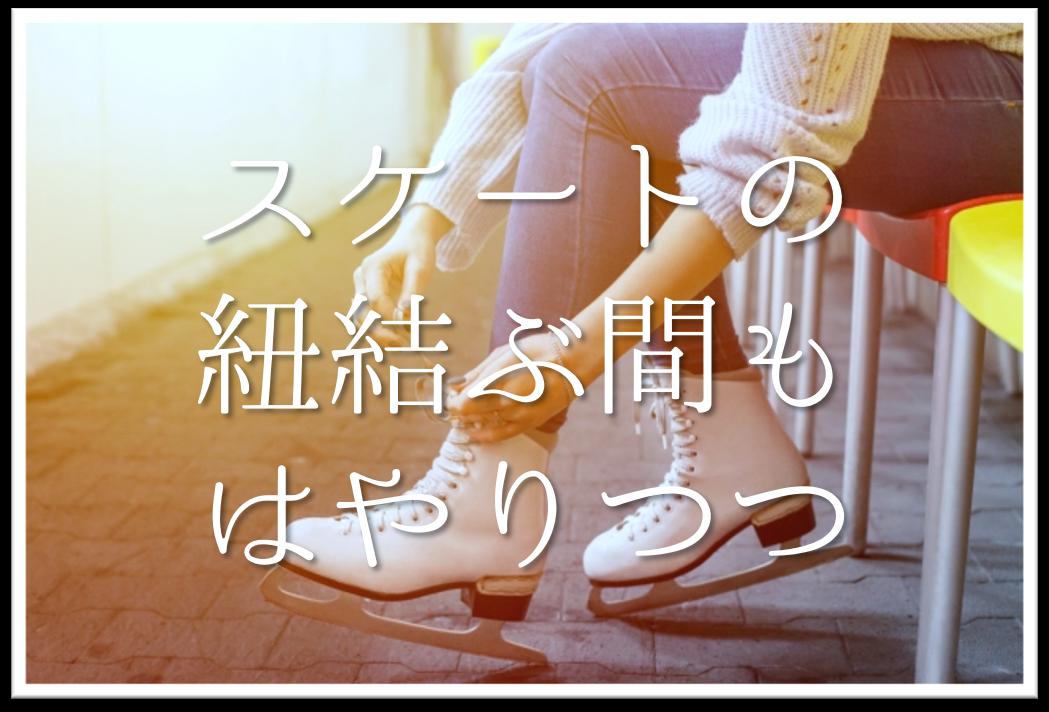 【スケートの紐結ぶ間もはやりつつ】俳句の季語や意味・表現技法・鑑賞・作者など徹底解説!!