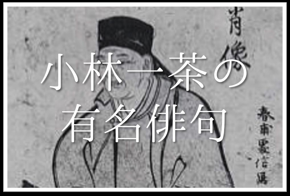 【小林一茶の有名俳句 16選】春夏秋冬!!俳句の特徴や人物像・代表作など徹底解説!