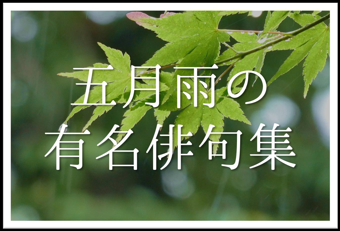 【五月雨の有名俳句 20選】知っておきたい!!季語を含んだおすすめ俳句を紹介!