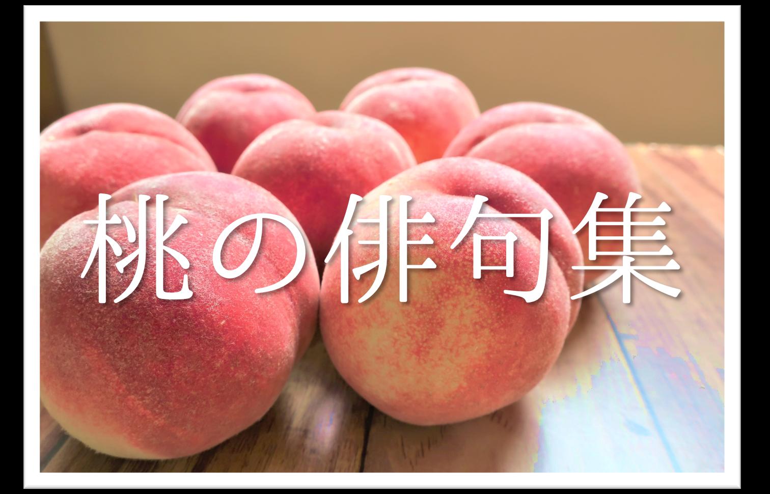 【桃の俳句 30選】知っておきたい!!季語を含むおすすめ有名&素人俳句を紹介!