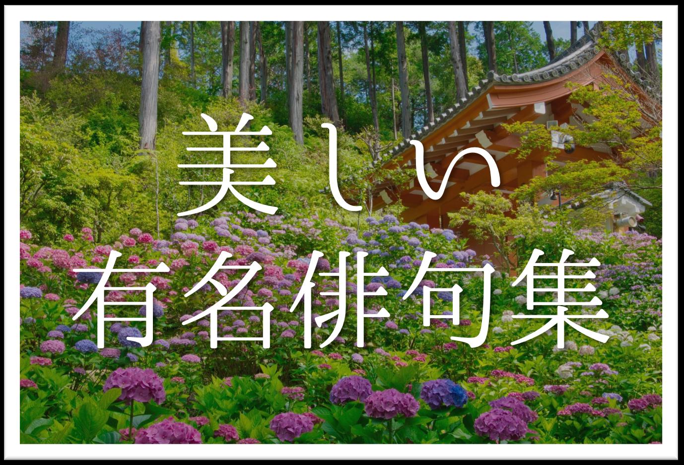 【美しい有名俳句集 20選】春夏秋冬!!季語を含むおすすめ俳句を紹介!