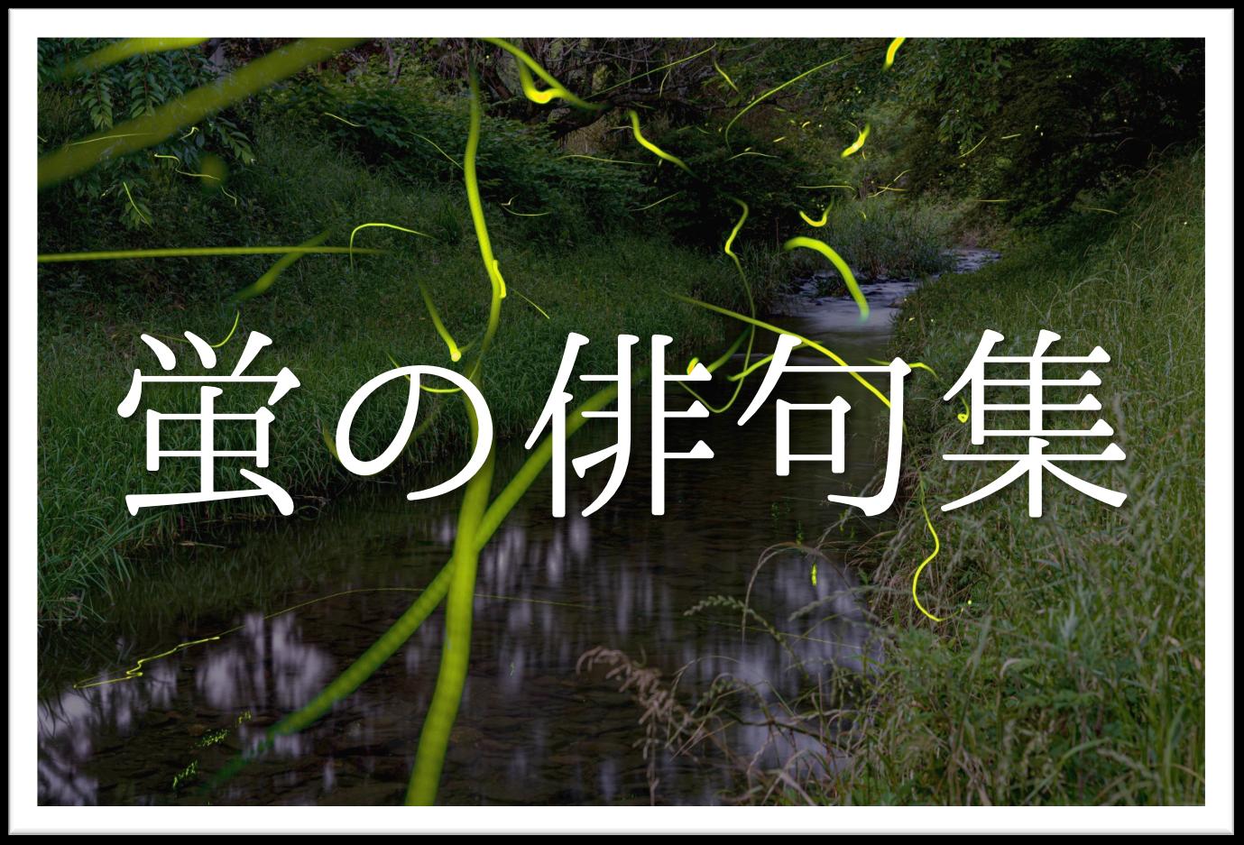 【蛍の俳句 20選】知っておきたい!!季語を含むおすすめ有名&素人俳句を紹介!