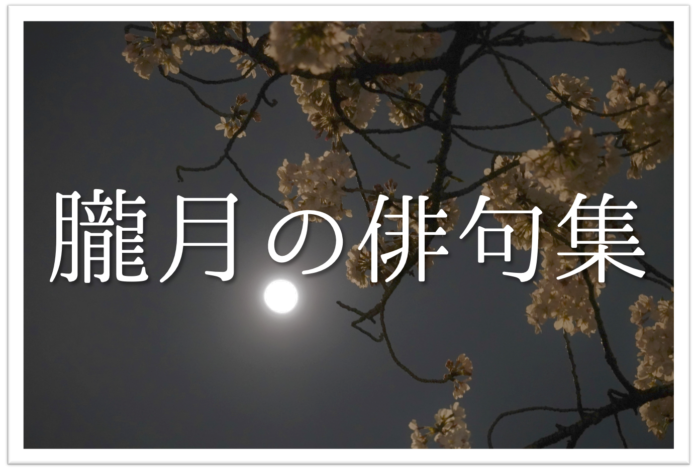 【朧月の俳句 20選】知っておきたい!!季語を含むおすすめ有名&素人俳句を紹介